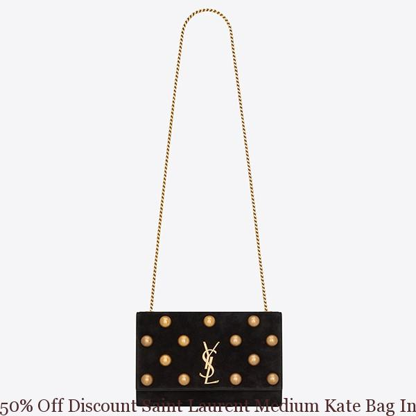 50 Off Discount Saint Laurent Medium Kate Bag In Black