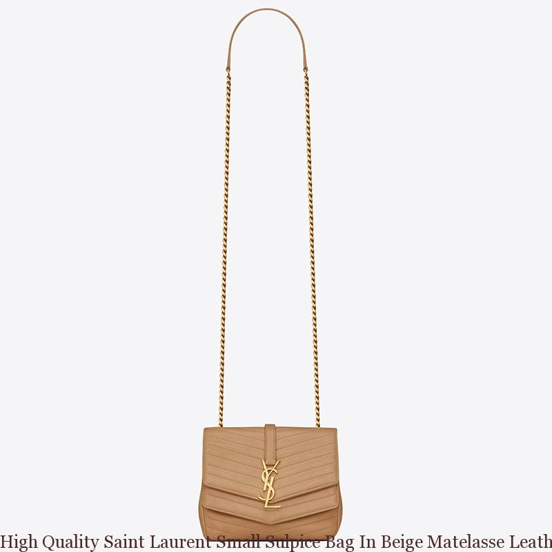 7151e23de7 High Quality Saint Laurent Small Sulpice Bag In Beige Matelasse Leather ...