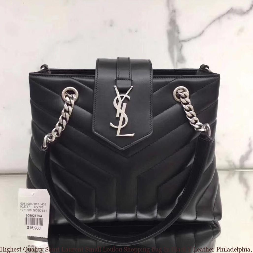 f301686967f Highest Quality Saint Laurent Small Loulou Shopping Bag In Black Y ...