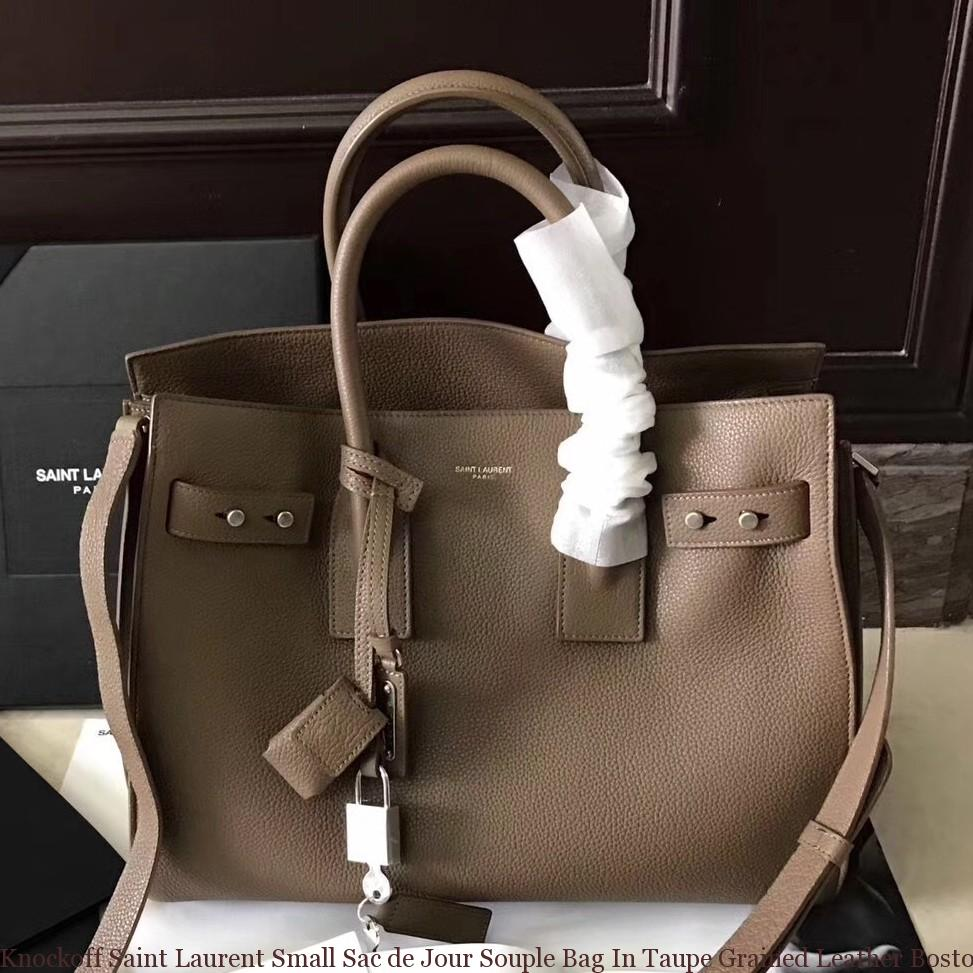 25ca6cf315ea Knockoff Saint Laurent Small Sac de Jour Souple Bag In Taupe Grained ...