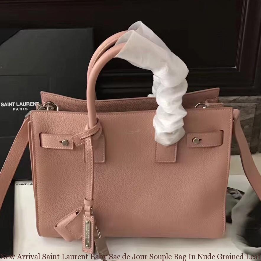 6d0fbda1cf151 New Arrival Saint Laurent Baby Sac de Jour Souple Bag In Nude Grained  Leather ...