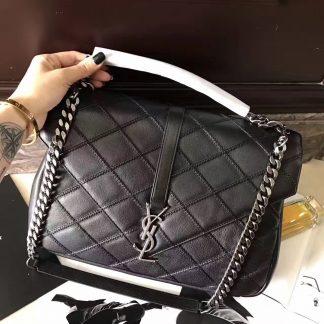 a8cc92f8c987 You re viewing  Paris Saint Laurent Large College Bag In Black Matelasse  Leather Modesto