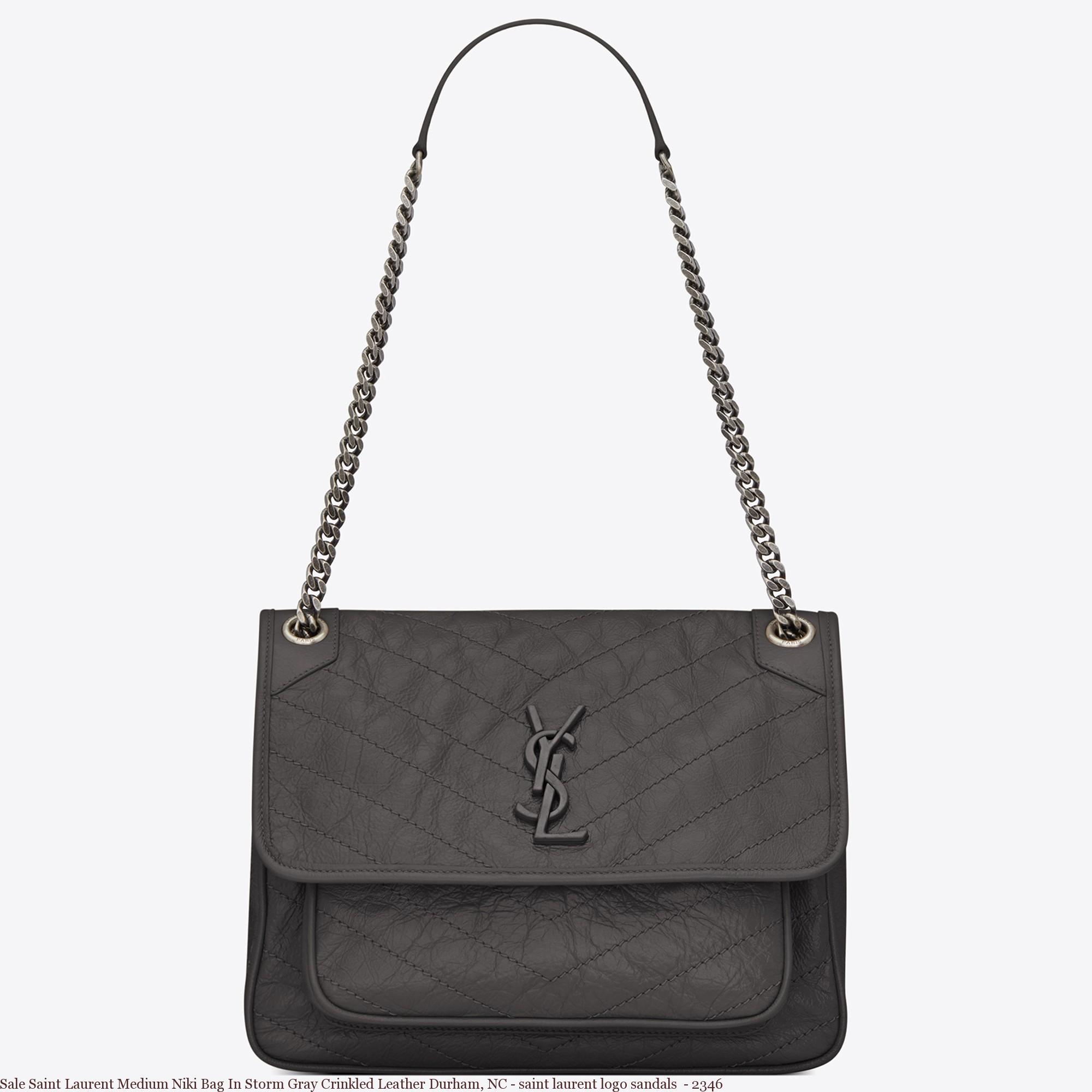 Sale Saint Laurent Medium Niki Bag In Storm Gray Crinkled